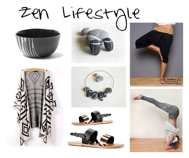 Zen Lifestyle by sognoametista on Polyvore featuring moda, MANGO, Sarah Cihat and zen
