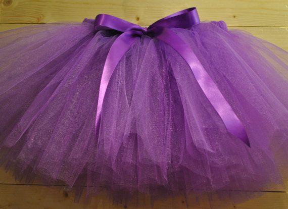 Purple Lilac Tutu with Satin Bow, dressing up tutu, girls tutu, baby tutu on Etsy, £15.00