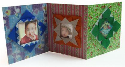 Origami Photo album - 3 different frame styles