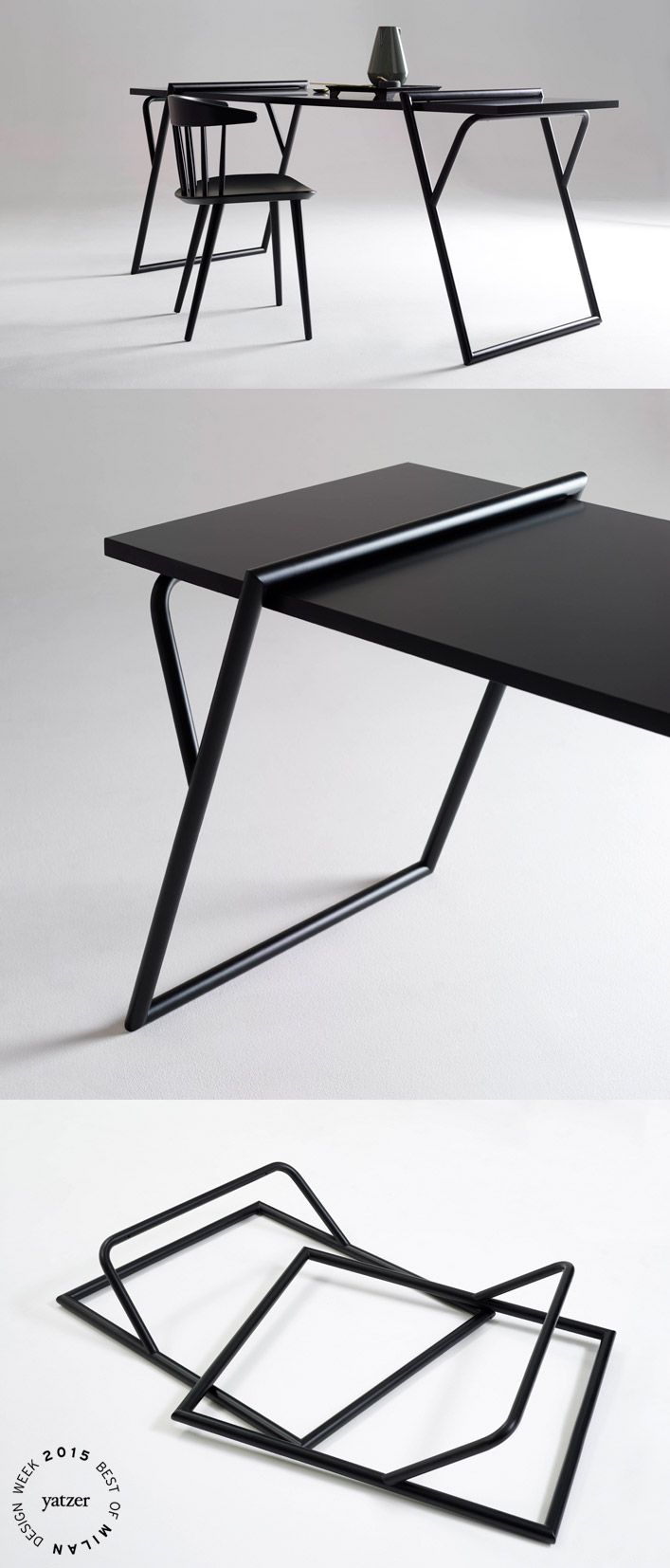 BEST OF MILAN DESIGN WEEK 2015 | Quadra by Luis Arrivillaga. ''Legs'' with an invisible design, universally suitable for supporting any type of table top. http://www.yatzer.com/best-of-milan-design-week-2015