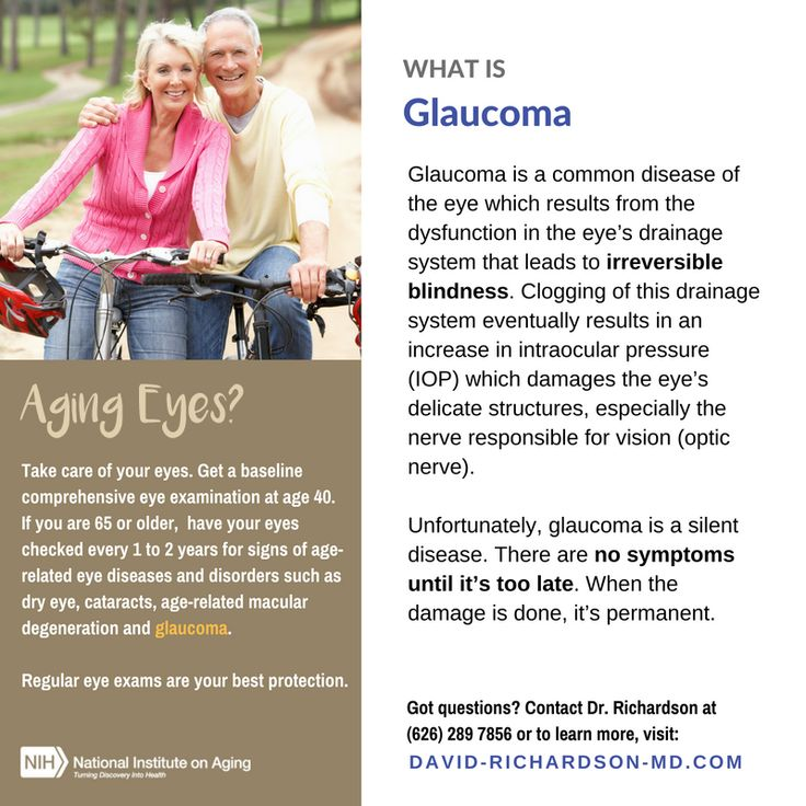 One of the most common Age-Related #Eye Diseases is #Glaucoma.    Glaucoma is one of the leading causes of Blindness. It is a common disease of the eye which results from the dysfunction in the eye's drainage system – the canal of Schlemm that leads to irreversible blindness. Because there are hardly any symptoms in the earlier stages of the disease, most glaucoma sufferers are unaware they have it. Continue Reading... http://new-glaucoma-treatments.com/glaucoma/  #AgingEyes