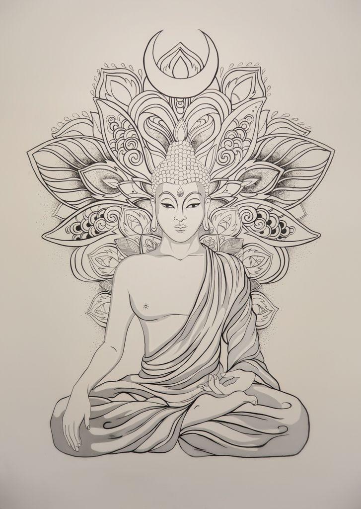 Lord Buddha Pencil Sketches Buddha Sketches Buddha Drawing