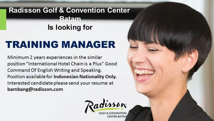 Radisson Batam Need Training Manager - Jobs
