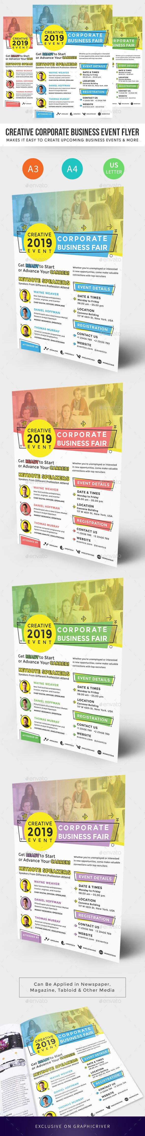 Creative Corporate Business Event Flyer is makes it easy to create a large event with large audience that usually held at convention center. With the flyer you can put the main theme of the event and also show to the people who is the special speaker for that