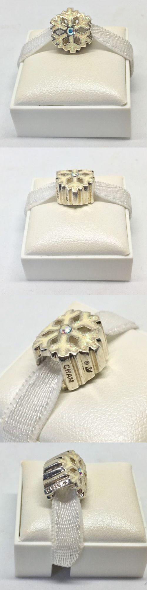 Fine Charms and Charm Bracelets 140956: Rare Chamilia Swarovski Snowflake Charm Silver -> BUY IT NOW ONLY: $38 on eBay!