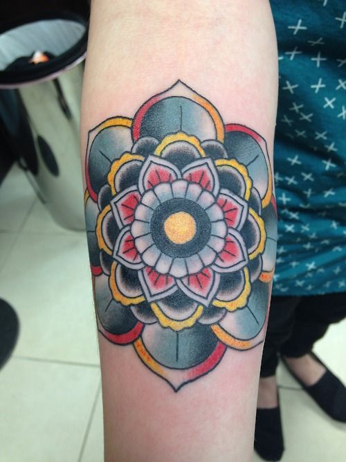 Floral Mandala Tattoo Done by Bobby Williams at Rise Above Tattoos in Orlando, Florida