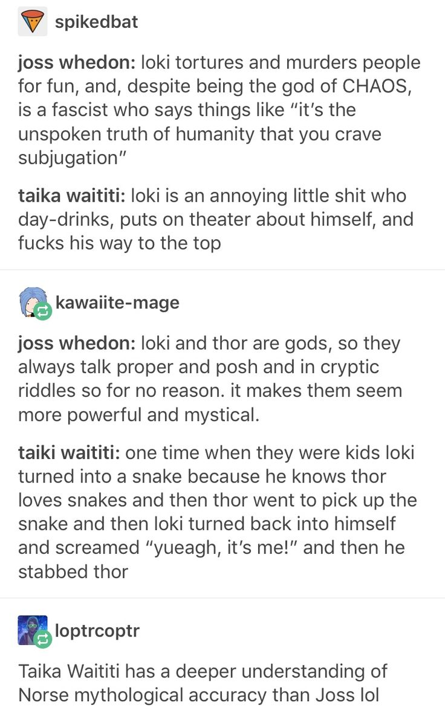 Taiki made both Thor and Loki more human than god and I love that :) #thor #loki #Ragnarok