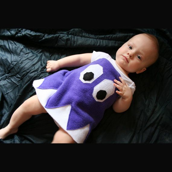 Pacman Ghost Baby Costume by boobercakes on Etsy, $45.00