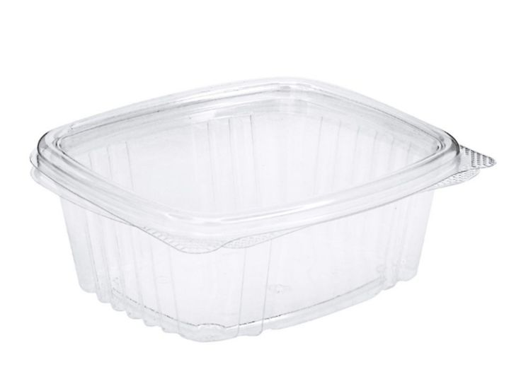 Edible Containers 12 oz Plastic Hinged Lid - 1000 COUNT