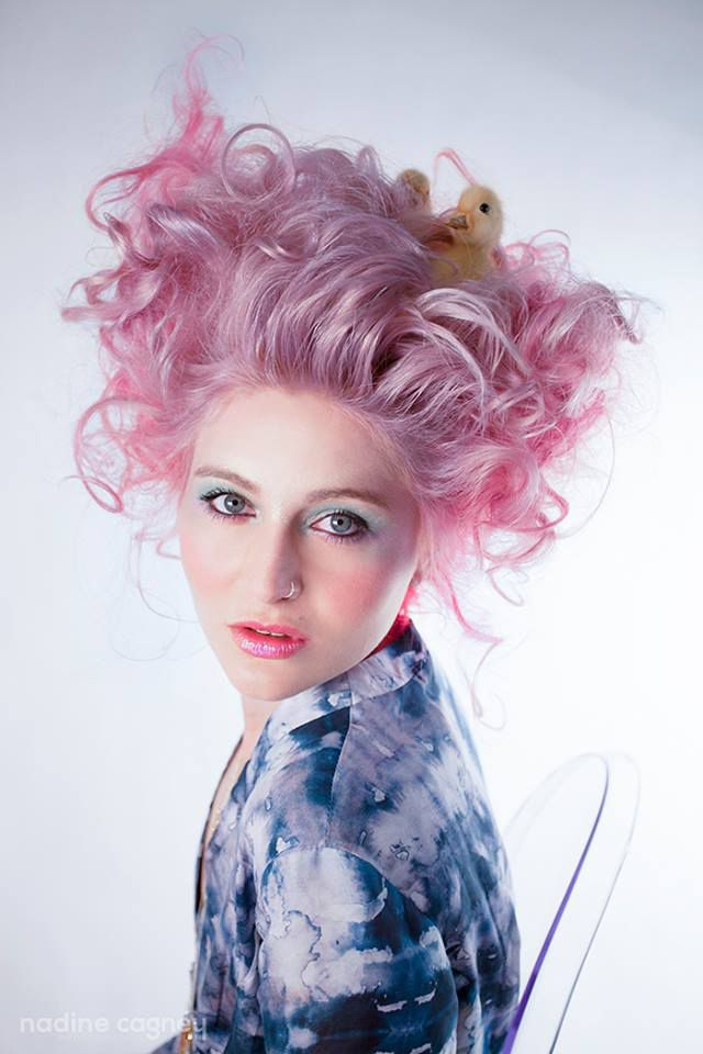 Studio 9305, Pink Hair, Photography by Nadine Cagney