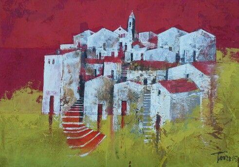 Salendo acrilico su mdf 70x50 Luigi Torre painter 2015