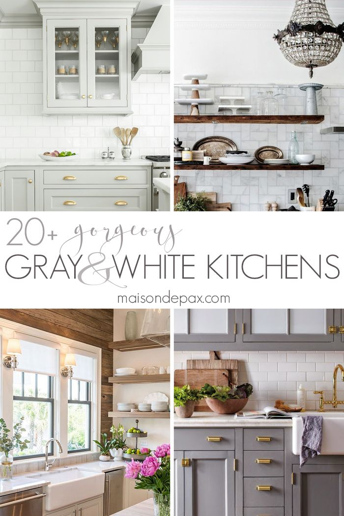 20 Gorgeous Gray And White Kitchens Gray And White Kitchen White Kitchen Kitchen Inspirations