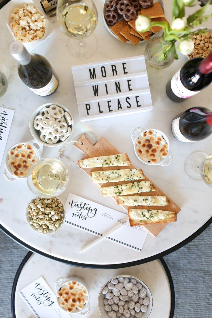 girls night in || easy wine tasting party