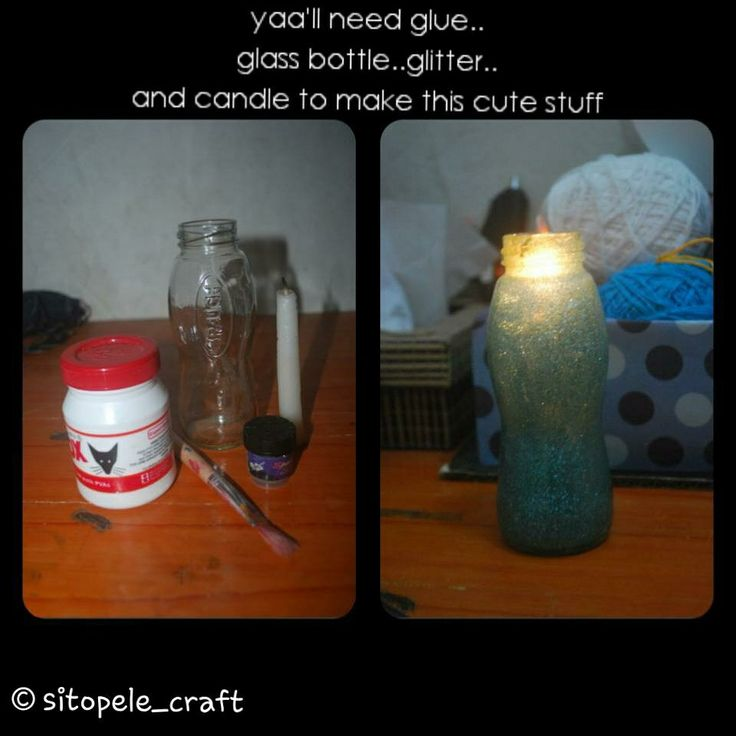 Candle in the bottle diy