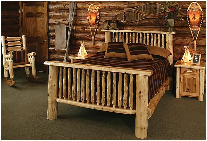 Inspiring Log Bedroom Sets Decoration Ideas