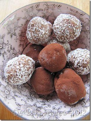 Super makkelijke chocolade-hazelnoot truffels