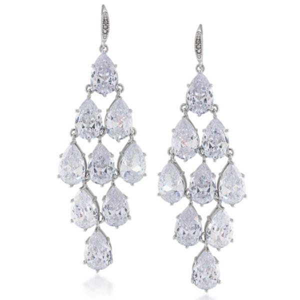 Carolee Crystal Chandelier Earrings