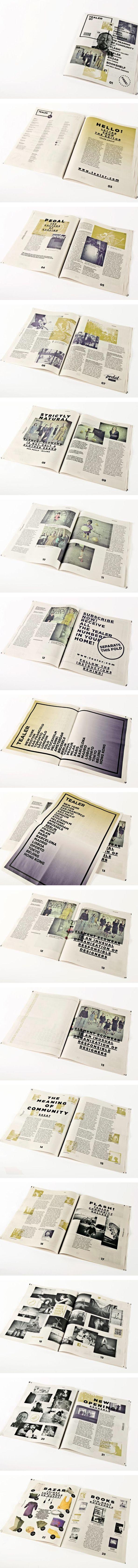 Tealer Brand - Newspaper by Margarida Borges