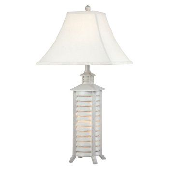 Our Collection Of Beach Lamps Feature Coastal Designs With Beach Style.  This Coastal Lamp Base Has Shutters On All Sides . It Is A Stylish Piece  That ...