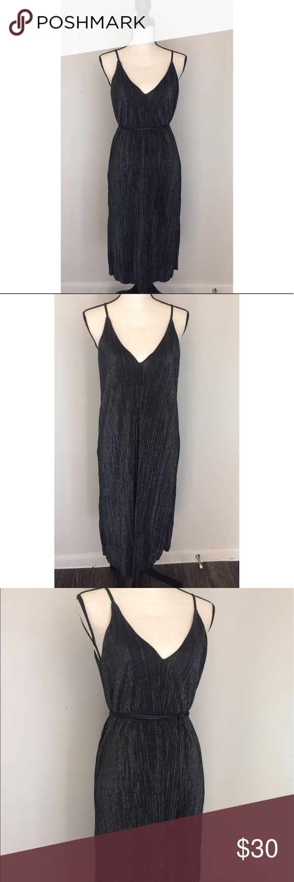 Shiny charcoal Dress Beautiful shiny and flowy fabric, size small but fits more like M , I used this for a flapper costume. You can wear it with or without the tassel lace! Perfect condition Timing Dresses Midi