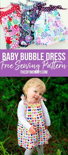 FREE sewing pattern! This baby bubble dress grows with your child. SO cute!