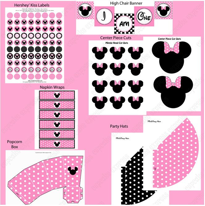 free minnie mouse printables | Minnie Mouse Light Printable Pink Deluxe Package
