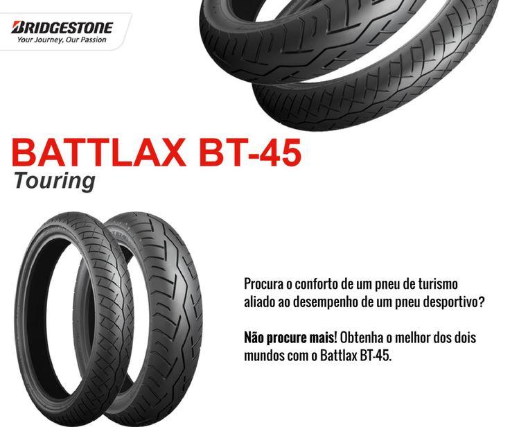 BATTLAX BT-45 Touring || Procura o conforto de um pneu de turismo aliado ao desempenho de um pneu desportivo? Não procure mais! Obtenha o melhor dos dois mundos com o Battlax BT-45.  #lusomotos #bridgestone #battlax #bt45 #pneu #pneus #traseiro #dianteiro #desportivo #turismo #touring #estilodevida #estrada