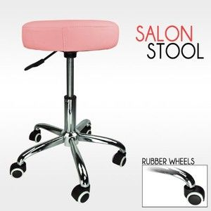 Barber Pink Hydraulic Stool Chair Facial Salon Tattoo Beauty