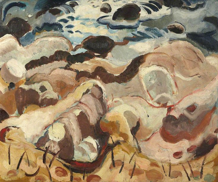 Rocks and Sea  William George Gillies