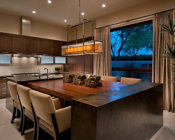 Custom Kitchen Island Table Combination