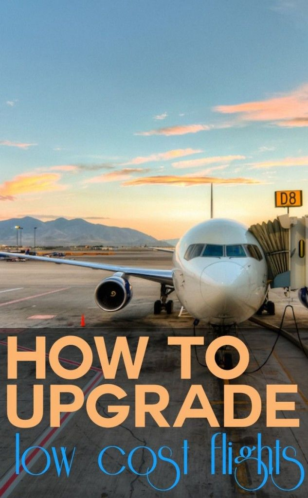 How to upgrade low cost flights via. @livesharetravel