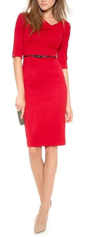 pretty red Jackie O dress http://rstyle.me/n/fb7fjr9te