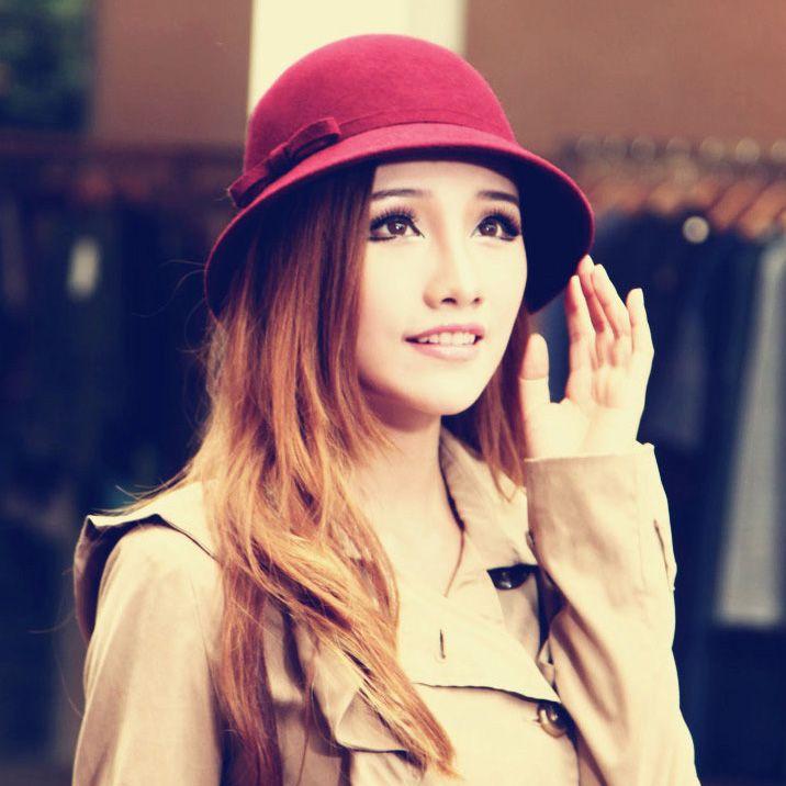 2013 женские осенние и зимние шляпу корейский лук шерсти шляпы ведро шляпы котелок женщин корейской моде шляпы - http://ru.onsal