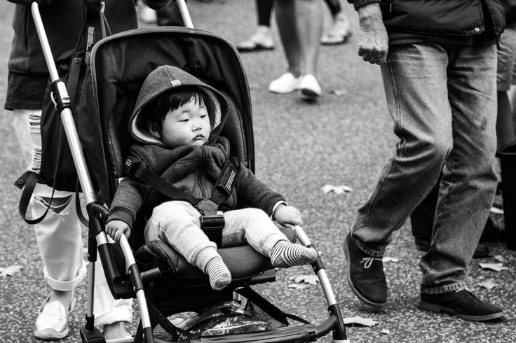 I tried this image in black and white also, I prefer it then in colour as the baby in the pram is more so highlighted, rather then the distraction of the colours around him