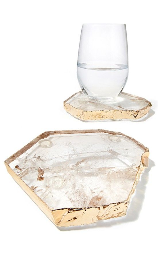 Set of 2 Our Kivita coasters (little Kivas) are the complement to our striking Kiva platters. Created as a set of two, they are available in many of the same stones as the platters, allowing for drama