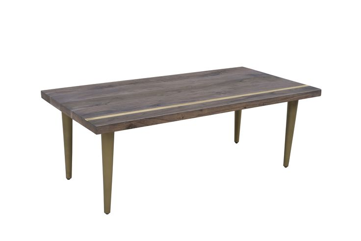 """Cabot Coffee Table Dimensions: WDH"""": 48 x 24 x 17 Made with Acacia Wood Vinegar Matte Finish"""