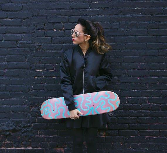 Custom Skateboard Deck SQUIGGLE