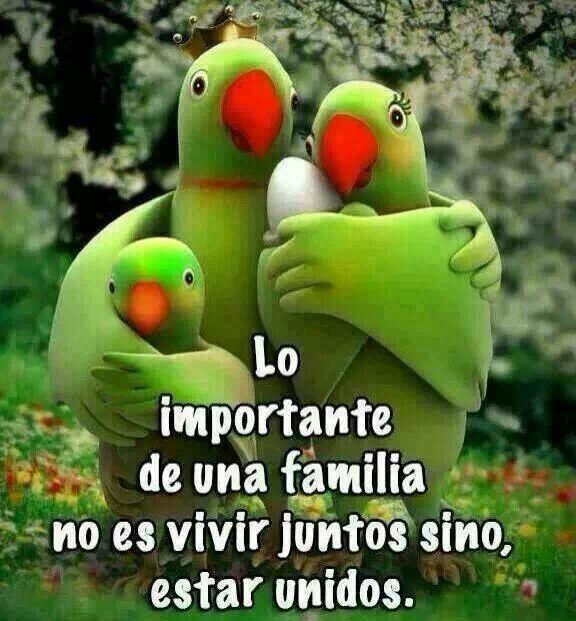 Familia. Lo más importante después de cualquier éxito es poder compartirlo con la familia. Es importante tener a personas a tu lado que te complementen y te ayuden a crecer, en la misma manera que puedas corresponderles.
