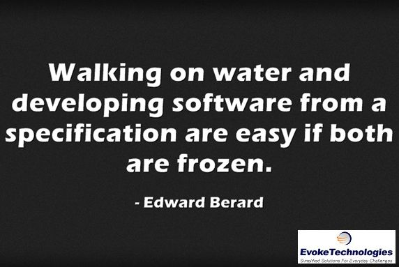 Walking on water and developing software from a specification are easy if both are frozen. ― Edward Berard #popularquotes #interestingquotes #greatquote #programmingquotes #quoteoftheday #quotesoftheday #quote