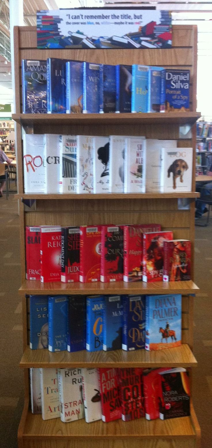 """I can't remember the title, but the cover was blue, no, white...maybe it was red?""  Library Book Display for the 4th of July"