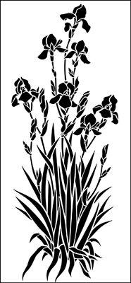 http://www.stencil-library.com/gardenroom-tallflower-stencils/000857-GAR0047-1/irisesstencil.html