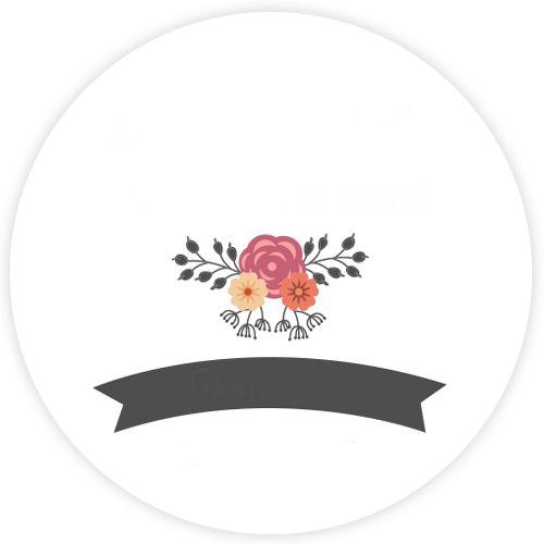 Boda Flores Etiqueta Redonda