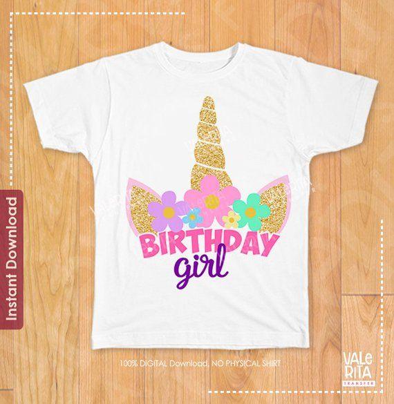 Girls Unicorn Ice Cream Shirt Unicorn Birthday Shirt Unicorn Birthday Unicorn Ice Cream Shirt Unicorn Outfit Unicorn Shirt