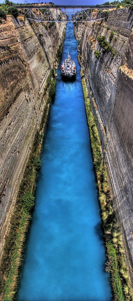 The Isthmus Canal, Corinth, Greece