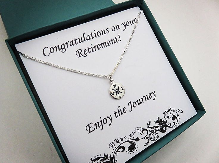 Retirement Gift for Women, Graduation Gift for Her, Compass Necklace, Sterling Silver, Retirement Jewelry, Silver Compass,  travel jewelry by MarciaHDesigns on Etsy https://www.etsy.com/listing/222312334/retirement-gift-for-women-graduation