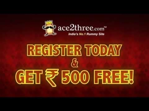Ace2Three Rummy Online - Play Indian Rummy Online for Free at Ace2Three. Register Today & Get Rs 500. Visit Us www.ace2three.com/adTrackerNew.jsp?url=2eec43f0475d87bb24d7c9d073b33255