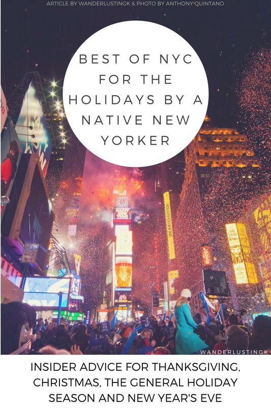 Reizen naar America? De Beste New York voor de feestdagen bij een inlander New Yorker! Geschreven voor iedereen bezoeken NYC voor Thanksgiving, Oudejaarsdag, de winter feestdagen of Kerstmis.  Alleen local tips voor NYC op haar meest magische tijd van de jaar.