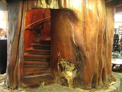 Now I just have to figure out where to get a giant tree, so I might carve my own staircase...