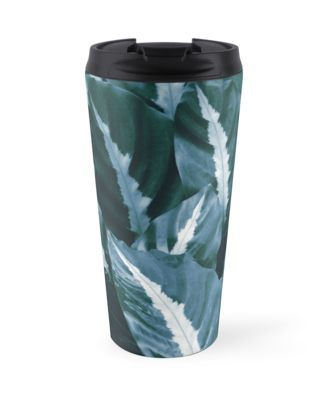 Night Jungle Tropical Green Leaves1tropicaldecorart Blue tshdCQr
