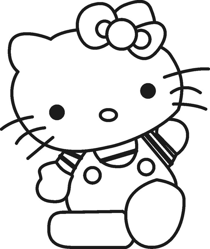 Hello Kitty Say To A Friend Coloring Pages For Kids Printable